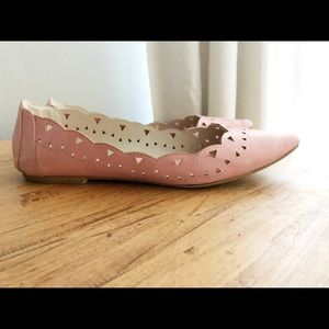 Mia cut out pink pointed toe flats